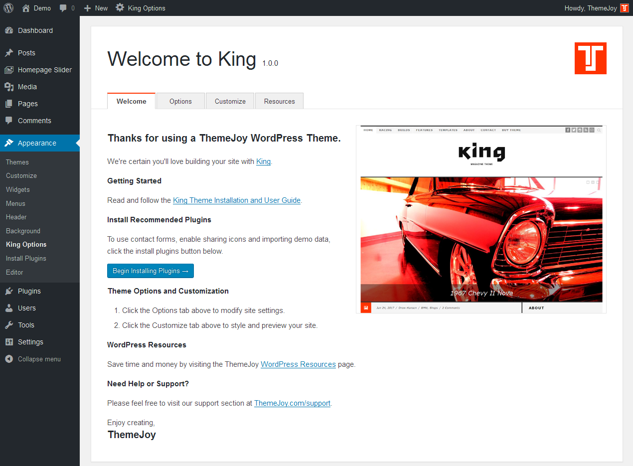 King Options